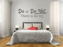 """Wall Quote """"Do Or Do Not. There is no try."""" Home Sticker Decal Decor Transfer"""